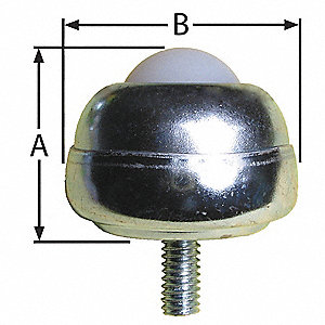 "1-3/4"" x 1-3/4"" x 1-3/8"" Zinc Plated Steel Threaded with 35 Lb. Working Load Limit"