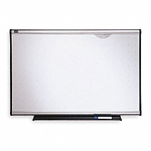 "Dry Erase Board, Nonporous, 48"" Width, 36"" Height"