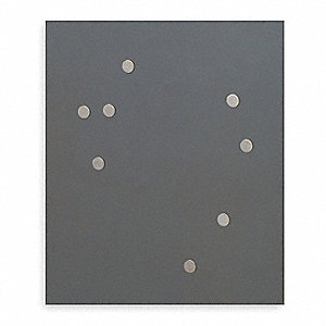 "4-5/8"" Metal Magnets, Silver"