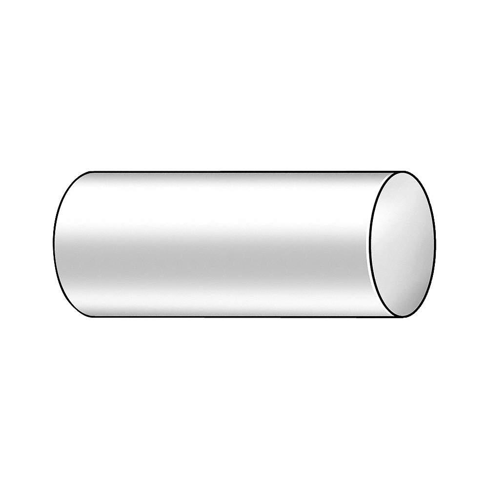 22JM59 POLYMERSHAPES PVC Rod Stock,Polyvinyl Chloride,5//8In.,48In Gray