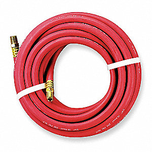 25 ft. Air Hose, Pneumatic Hose Max. Pressure: 250 psi, Red