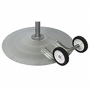Pedestal Mount Wheel Kit For Use With 1ZCP2, 1ZCP3, 13F048, 13F049,Includes Wheels, Brackets, Assemb