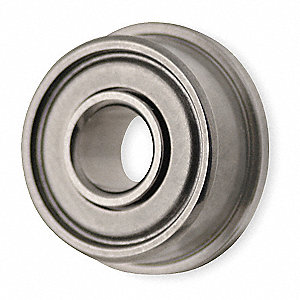 Mini Ball Bearing,Flanged,Bore 0.1250 In