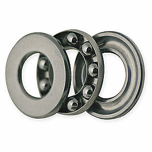 Thrust Bearing,Grooved,Bore Dia 9.0mm