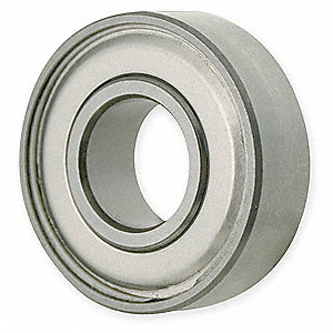 Radial Ball Bearing, Double Shielded, 30mm Bore Dia., 62mm Outside Dia.