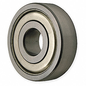 Radial Ball Bearing, Double Shield Bearing Type, 20mm Bore Dia., 47mm Outside Dia.