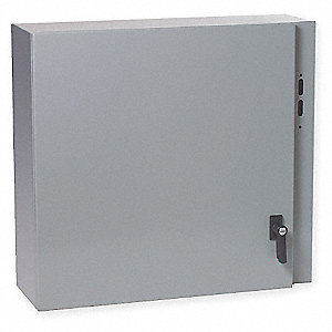 "42""H x 32""W x 12""D Metallic Disconnect Enclosure, Gray, Knockouts: No, 1/4 Turn Latch Closure Method"
