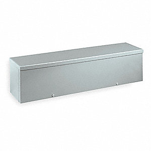 "6""H x 48""W x 6""D Metallic Wiring Trough, Gray, Knockouts: Yes, Screws Closure Method"
