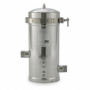 "Filter Housing, Electro Polish 316 Stainless Steel, 1-1/2"" NPT"