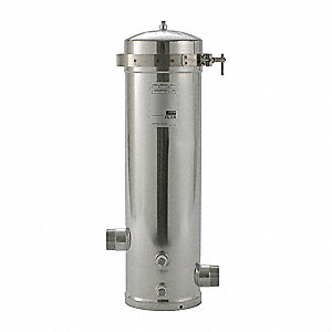 "Filter Housing, Electro Polish 316 Stainless Steel, 2"" NPT"