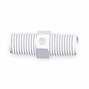 Nippler,Threaded Hex,Poly,1/2 In,PK10