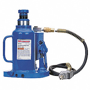 "8"" x 6-1/2"" Air/Manual Steel Bottle Jack with 12 tons Lifting Capacity"