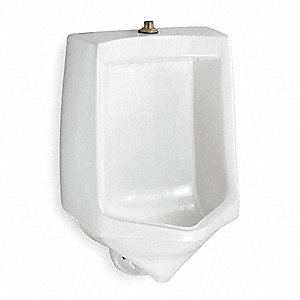 "Siphon Jet Wall Urinal, 1.0 Gallons per Flush, 26-3/4""H x 17-1/2""W, White"