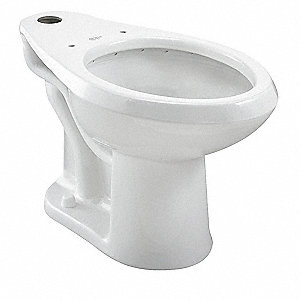 Toilet Bowl, Floor Mounting Style, Elongated, 1.1 to 1.6 Gallons per Flush