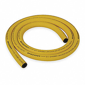 50 Ft. Nitrile Synthetic Rubber Bulk Mine Spray Hose, Yellow