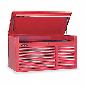 Top Chest,50-1/2x25x27 in,12 Drawers,Red