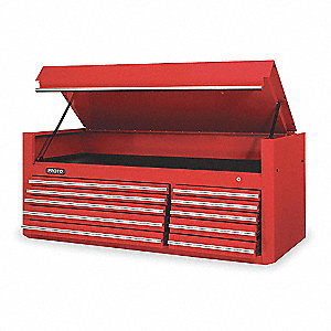 CHEST 66 10 DRAWERS RED