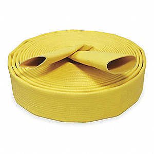 Lay Flat Hose,Yellow,50 ft. L,250 psi