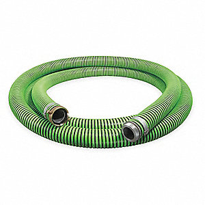 "20 ft. Black and Green Water Suction and Discharge Hose, 2"" Fitting Size, 50 psi"