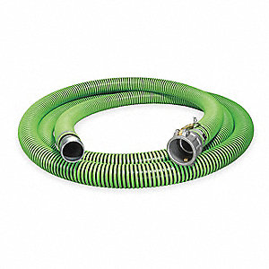 "20 ft. Black and Green Water Suction and Discharge Hose, 4"" Fitting Size, 50 psi"