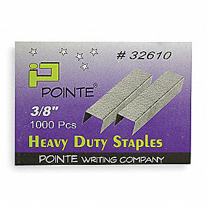 Staples,Hvy-Duty,1/2In W,3/8In L,PK1000