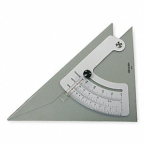 Adjustable Set Square,Rigid,10 In L
