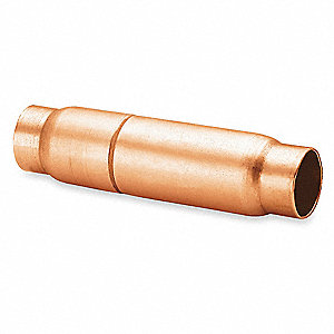 Copper Check Valve, 1.13 Dia x 4 1/2 In L