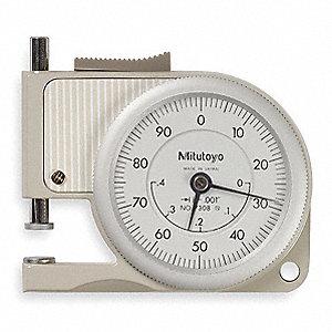mitutoyo thickness gauge. pocket thickness gage,flat,0-0.400 in mitutoyo gauge