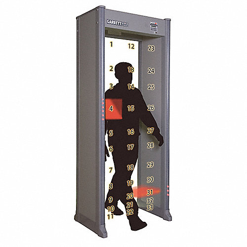 Garrett metal detectors detector de metales tipo arco - Normativa detectores de metales ...
