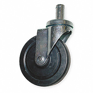 Swivel Stem Caster,Rubber,5 in.,280 lb.