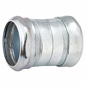 "3/4"" EMT Compression Coupling, 2-13/64"" Overall Length"