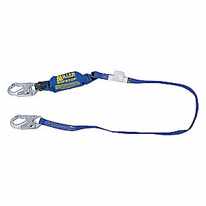 Arc Flash Shock-Absorbing Lanyard, Number of Legs: 1, Working Length: 6 ft.