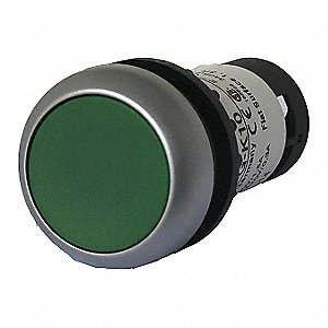 Non-Illuminated Push Button, Type of Operator: Flush Button, Size: 22mm, Action: Maintained Push