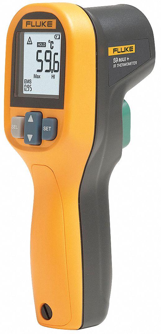 Fluke Backlit Lcd Infrared Thermometer Single Dot Laser Sighting Infrared 20az69 Fluke 59 Max Grainger