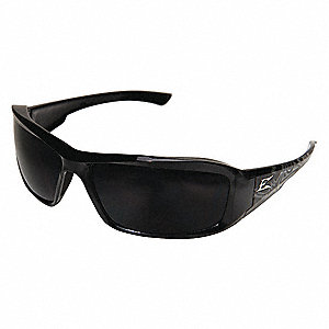 Brazeau Scratch-Resistant Safety Glasses, Smoke Lens Color