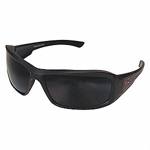 Brazeau Torque Matte Black Scratch-Resistant Polarized Safety Glasses, Smoke Lens Color
