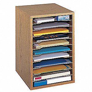 Vertical Desktop Sorter, Oak