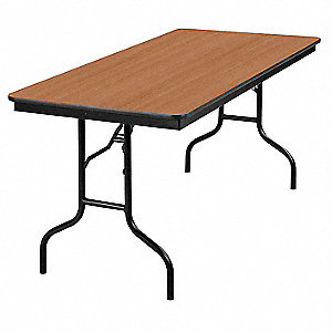 "Folding Banquet Table,60""Wx30""D,Walnut"