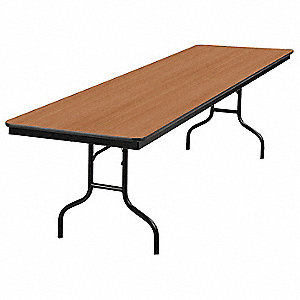 "Folding Banquet Table,96""Wx30""D,Walnut"