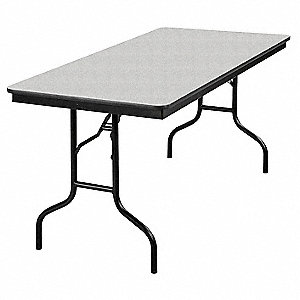 "30""H x 60""W x 30""D Rectangle Folding Banquet Table, Gray Glace"
