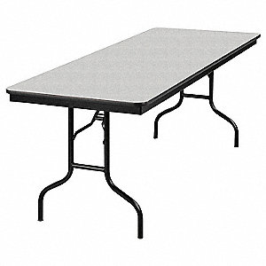 "30""H x 72""W x 30""D Rectangle Folding Banquet Table, Gray Glace"