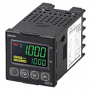 Temperature Controller, 1/16 DIN Size, 24VAC/DC Input Voltage, Switch Function: Programmable