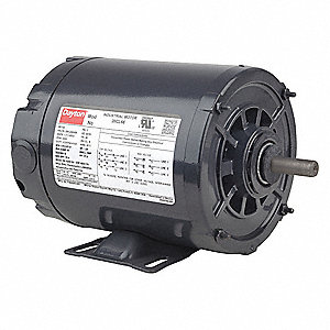 1/2 HP General Purpose Motor,3-Phase,3450 Nameplate RPM,Voltage 208-230/460,Frame 48