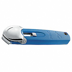 Pocket Safety Cutter,5 1/2 In,Blue