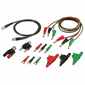 TEST LEADS KIT,RED/BLACK/GREEN,SILICONE
