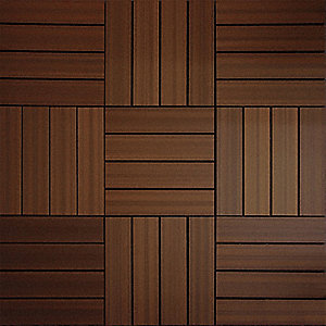 "11-3/4"" x 11-3/4"" Composite Deck Tile with 10 sq. ft. Coverage Area, Brown"