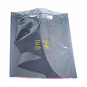 "3""L x 3""W Reclosable Static Shielding Bag, Silver"
