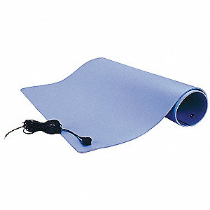 Dissipative Floor Mat,Gray,2 x 4 ft.