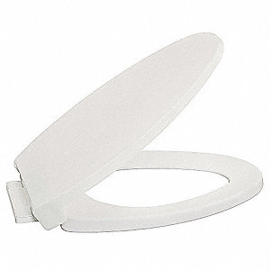 "Slow Close Toilet Seat, Elongated, With Cover, 18-3/4"" Bolt to Seat Front"