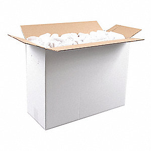 White Terry Cloth, Size: Varies, 25 lb. Box